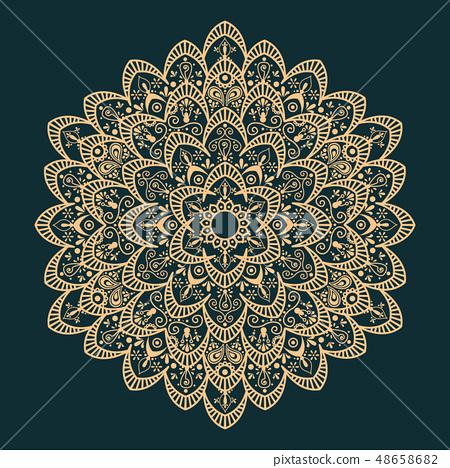 Mandala isolated design element, geometric pattern 48658682