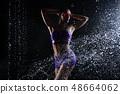 Beautiful athletic caucasian girl  48664062