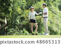 高尔夫 高尔夫球手 挥舞 48665313