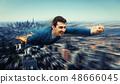 superhero over the city 48666045
