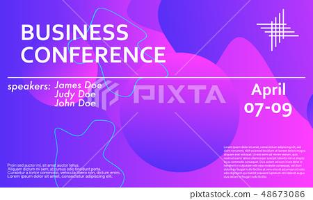 Business conference invitation design template - Stock ...