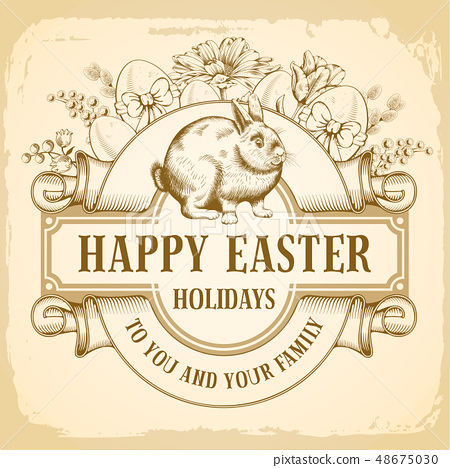Happy Easter Greeting 48675030