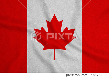 Flag of the Canada from the factory knitted 48675508