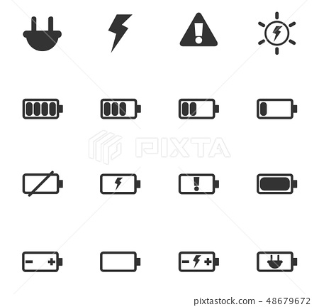 battery icon set 48679672