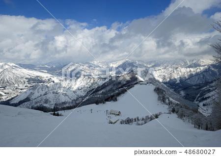 從Kami Takahara滑雪勝地的頂部附近的風景 48680027