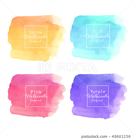 Colorful abstract watercolor background. 48681256