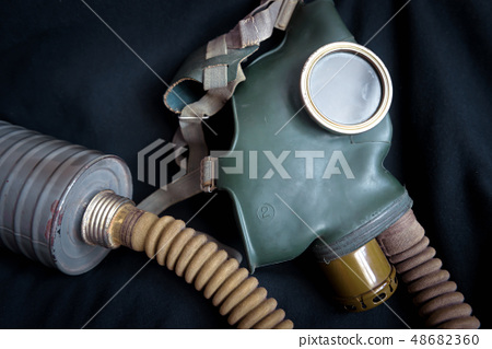 Old gas mask with filter 48682360