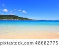 Beautiful beach of Okinawa 48682775