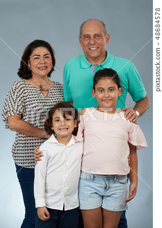Happy smiling Grandparents with kids 48684578