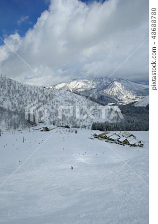 從Heracles(主要斜坡)的頂部看Kamiki Takahara滑雪區Pollux 48688780