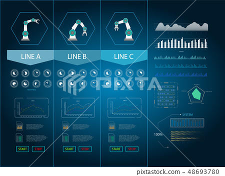 Technology graphic display 48693780