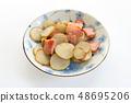 돼지 감자와 베이컨 볶음 48695206