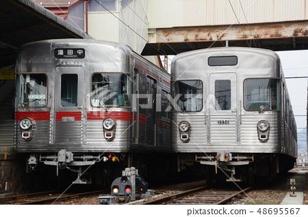 Nagano Electric Railway 3500 lines lined up at Suzaka Station 48695567