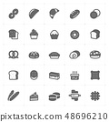 Icon set - bakery and bread vector illustration on 48696210