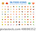 96 food full color icons set. Vector illustration  48696352