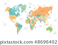 World Map Full Color High Detail Separated all 48696402