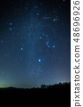 """""""Gemini meteor shower"""" Winter large triangle and Gemini meteor shower 48696926"""