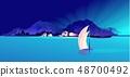 fishing village sea 48700492