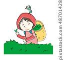 농가 찻잎 따기 tea picking 48701428