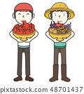 收穫農民和收穫 48701437