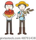 收穫農民和收穫 48701438