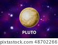 Realistic Pluto planet 48702266