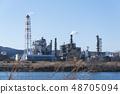 공장 무역 공장 굴뚝 연기 48705094