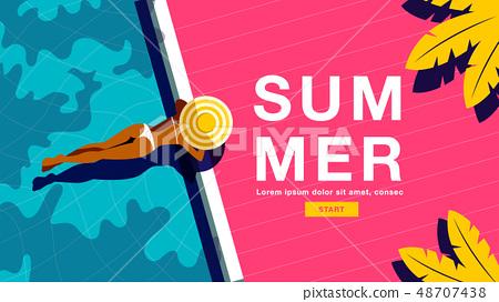 Summer Holiday, Poster , Banner, sunshine 48707438
