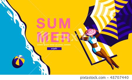 Summer Holiday, Poster , Banner, sunshine 48707440
