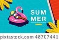 Summer Holiday, Poster , Banner, sunshine 48707441
