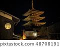 히가시야마 꽃 램프로 48708191