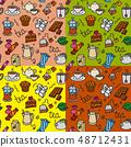 tea seamless patterns 48712431