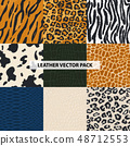 Seamless leather texture. Vector illustration. 48712553