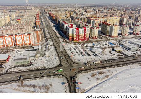 Bird eye view on 3rd Tyumen residential district 48713003