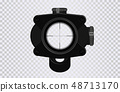 Sniper scope crosshairs in realistic style 48713170
