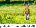 แกว่ง,เด็ก,บุตร 48714594
