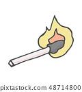 Doodle style. Match Sticks color vector sketch. Vector illustration 48714800
