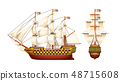 old war ship set 48715608