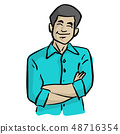 smiling businessman with arms crossed vector 48716354