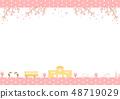교사 봄 벚꽃 48719029