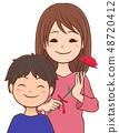 어머니와 아들 카네이션 48720412