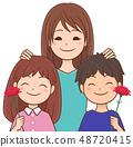 母親和兒童康乃馨 48720415