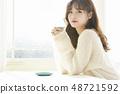 女性生活方式茶時間 48721592