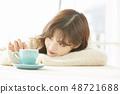 女性生活方式茶時間 48721688