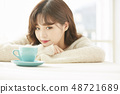 女性生活方式茶時間 48721689