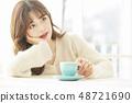 女性生活方式茶時間 48721690