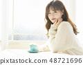 女性生活方式茶時間 48721696