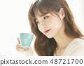 女性生活方式茶時間 48721700