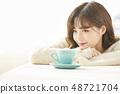 女性生活方式茶時間 48721704