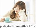 女性生活方式茶時間 48721712